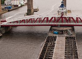 Swing Bridge Cable and Hose Protection