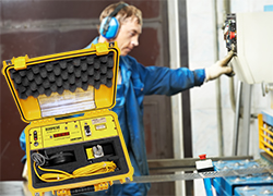 Gemco 1999 Safetimeter makes the working place safer with metal stamping presses